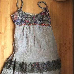 Free People 100% Silk layered dress sz Small